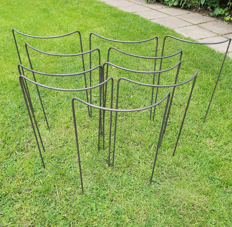 10 garden stakes/supports