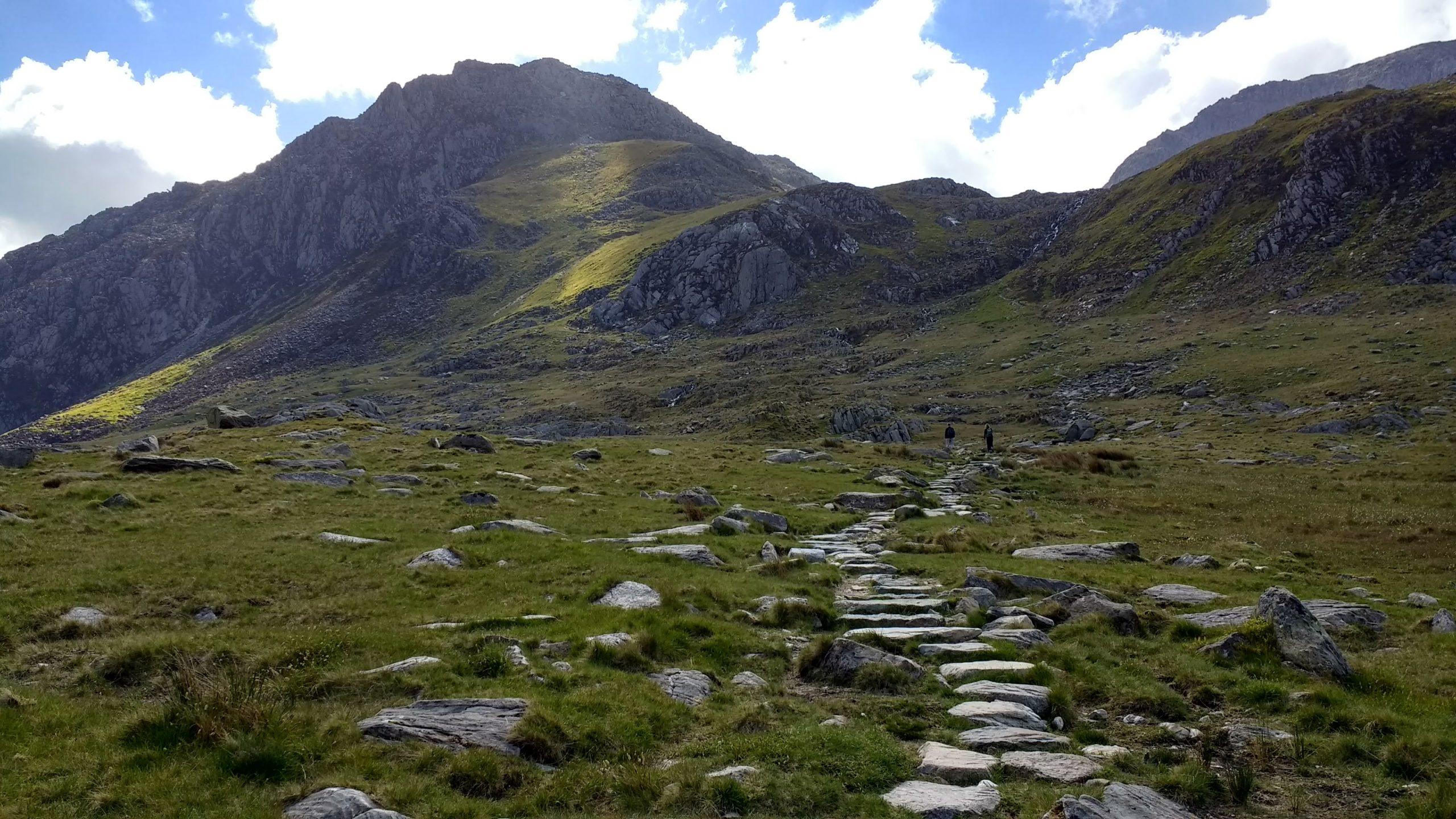 Stone steps on the Glyderau