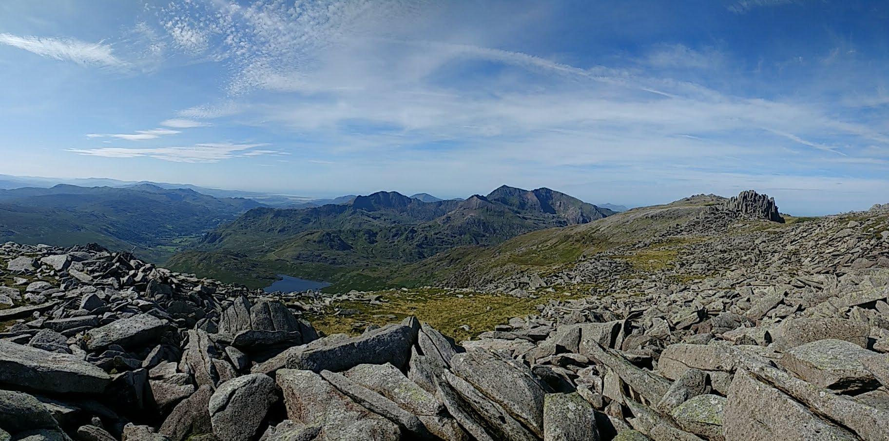 Snowdon Range taken from the Glyderau