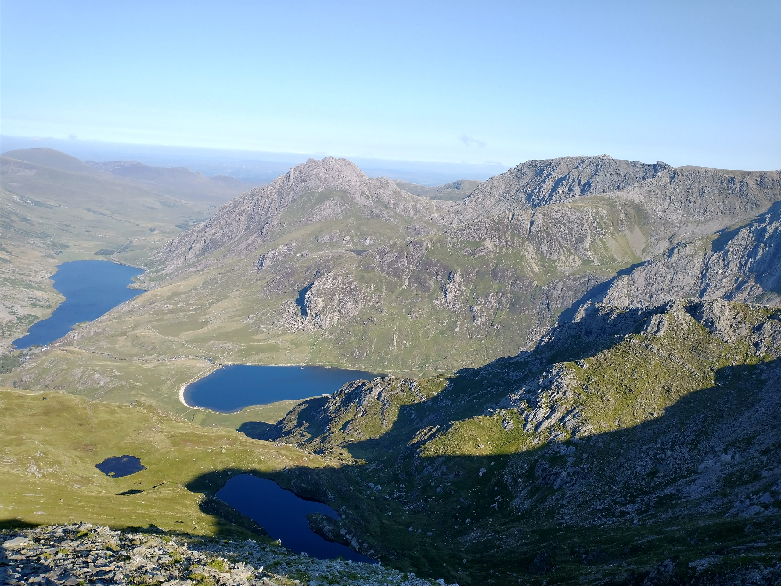 The Glyderau with Lake Ogwen in the distance
