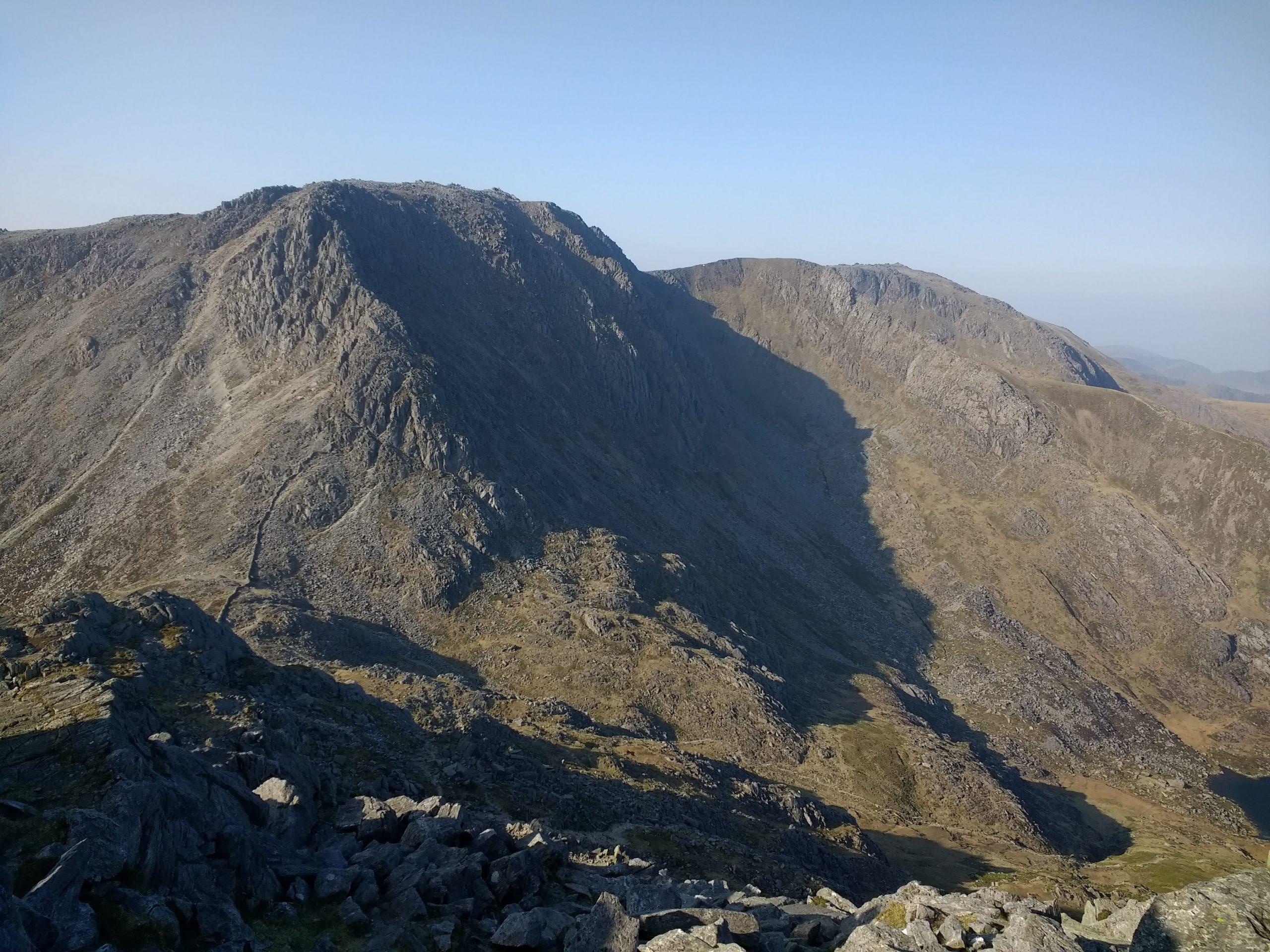Bristly Ridge in the Glyderau taken from Tryfan