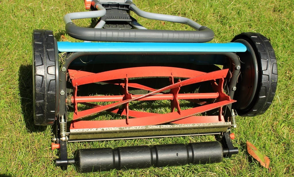 A close up photo of our cylinder mower