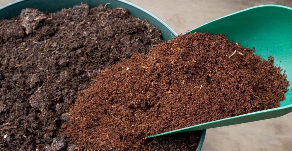 Coco coir and compost