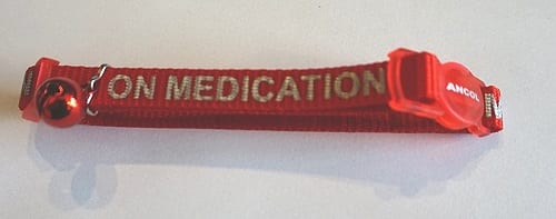 Medication collar for dogs