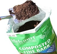 Fine compost bark mulch