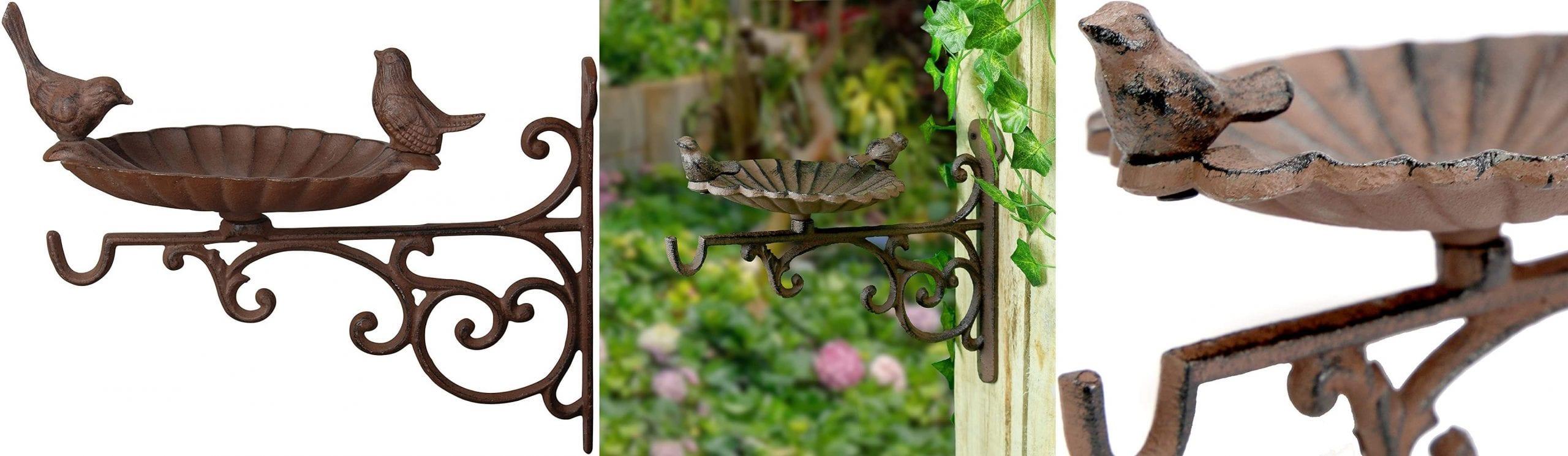 Hanging basket bracket made from iron