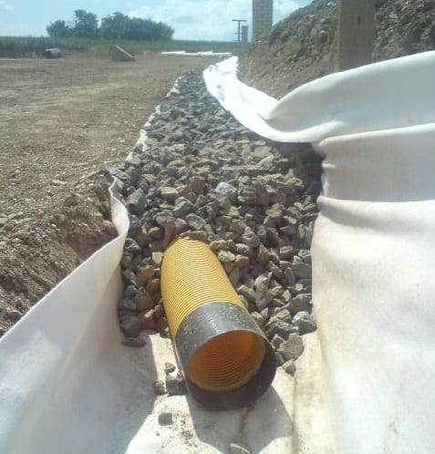Highway French drain