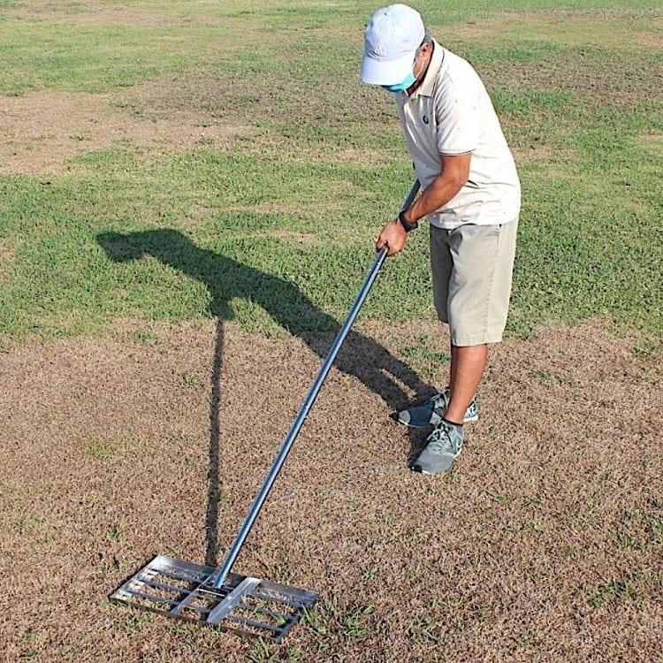lawn level rake