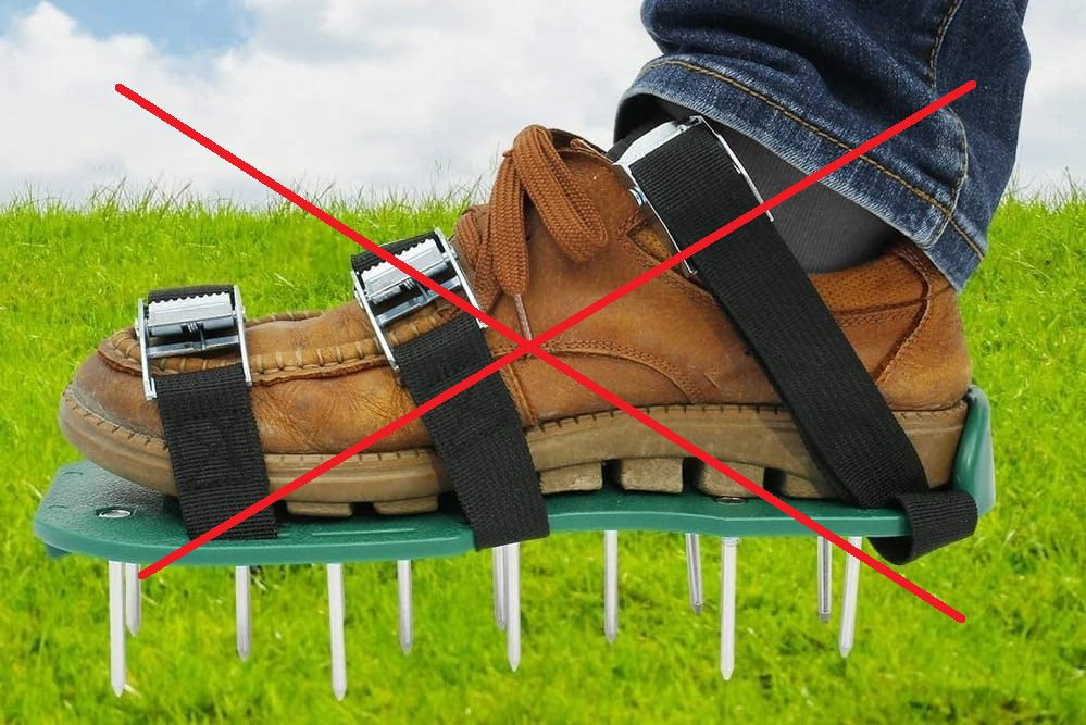 Lawn shoes don't work