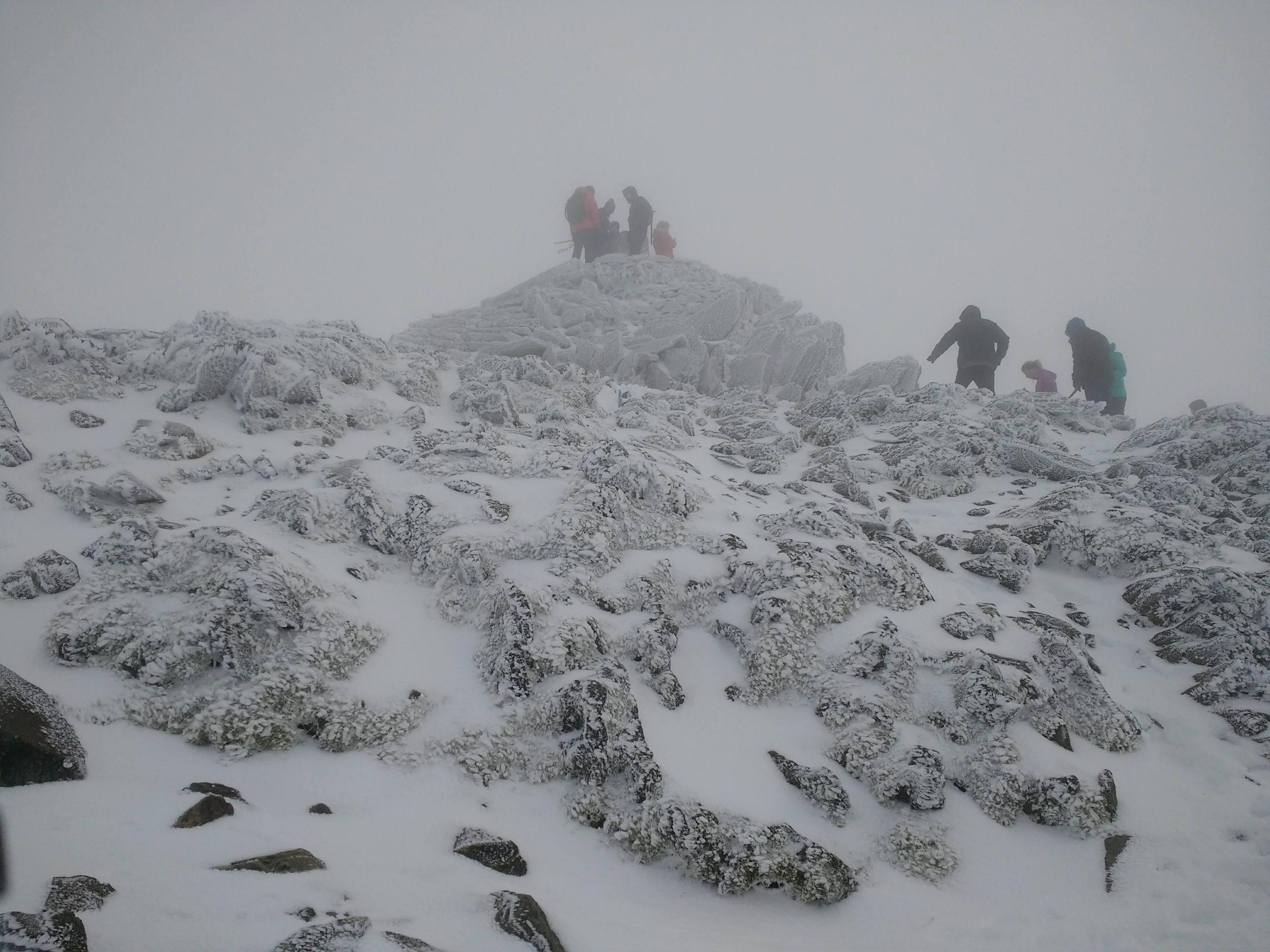 Mount Snowdon summit in winter
