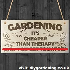 Gardening, it's cheaper than therapy meme