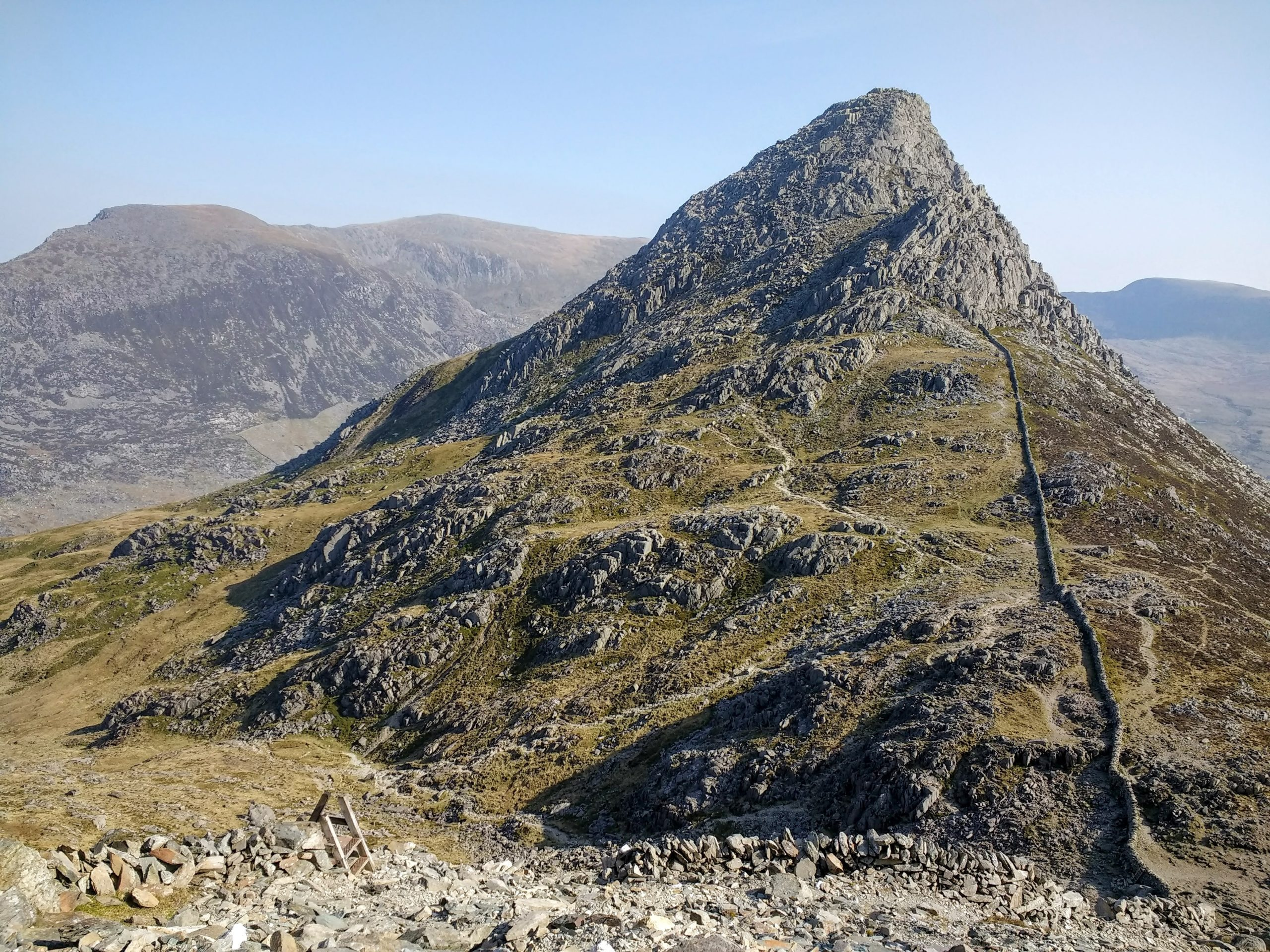 Tryfan viewed from the base of Bristly Ridge