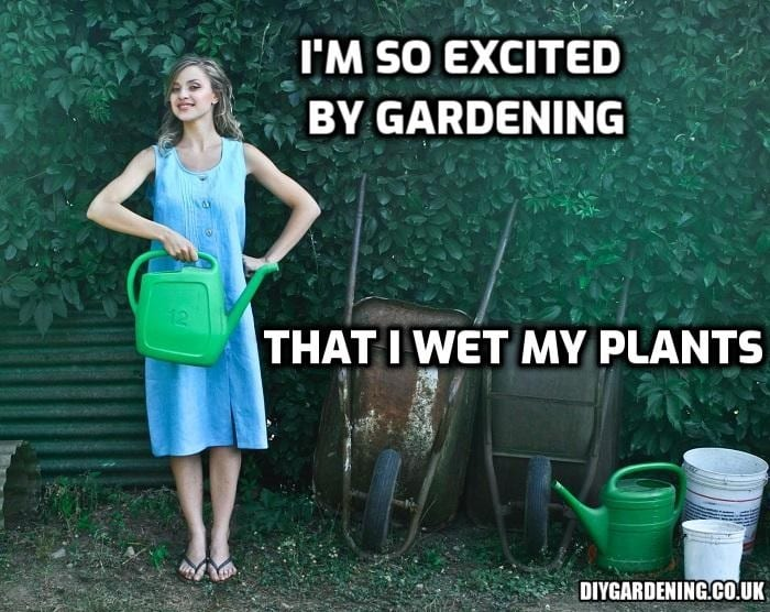 I'm so excited by gardening meme
